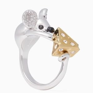 Kate Spade ♠️ NWOT Mouse and Cheese Ring